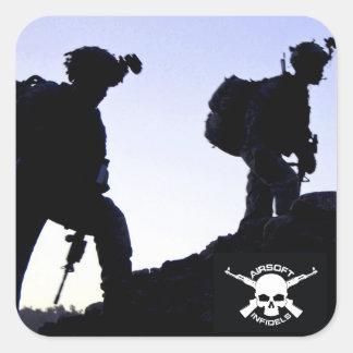 Airsoft Infidels silhouette sticker