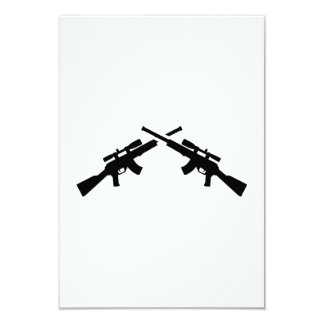 Airsoft weapons 9 cm x 13 cm invitation card