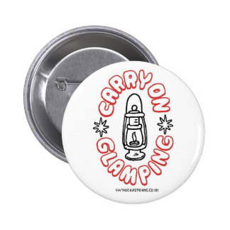 Airstream Caravan - Glamping 6 Cm Round Badge