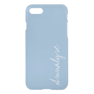 Airy Blue Light Baby Blue Sleek Solid Color Custom iPhone 8/7 Case
