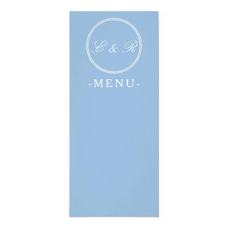 Airy Blue with White Wedding Detail 10 Cm X 24 Cm Invitation Card