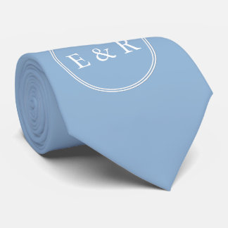 Airy Blue with White Wedding Detail Tie