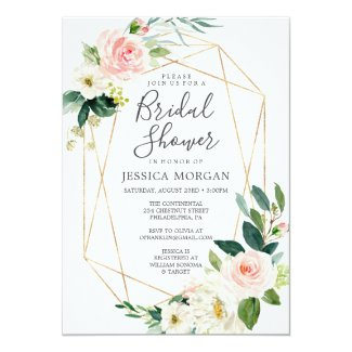 Airy Blush Bridal Shower Invitation