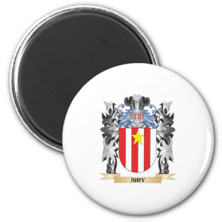 Airy Coat of Arms - Family Crest 6 Cm Round Magnet