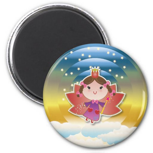 Airy Fairy Up In the Air Blue Yellow Magnet