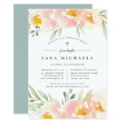 Airy Floral Baptism or Christening Invitation