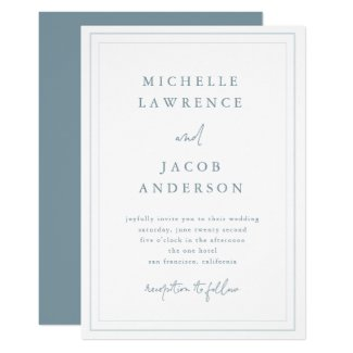 Airy Pastel | Wedding Invitation