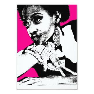 Aisha Pink 13 Cm X 18 Cm Invitation Card
