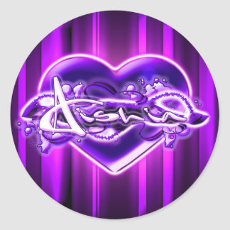 Aishia Round Sticker