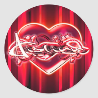 Aislinn Round Sticker