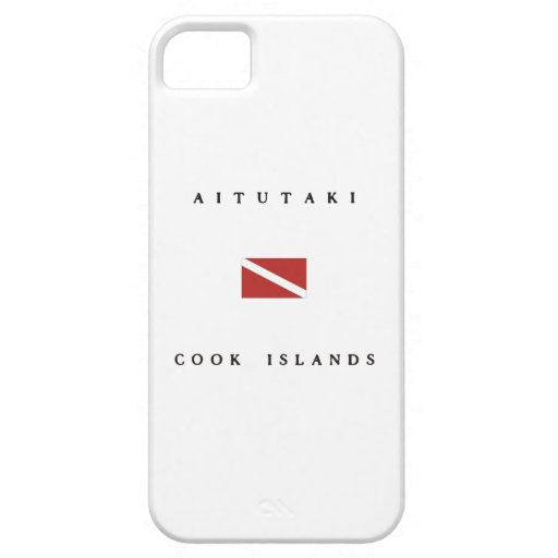 Aitutaki Cook Islands Scuba Dive Flag iPhone 5/5S Cases