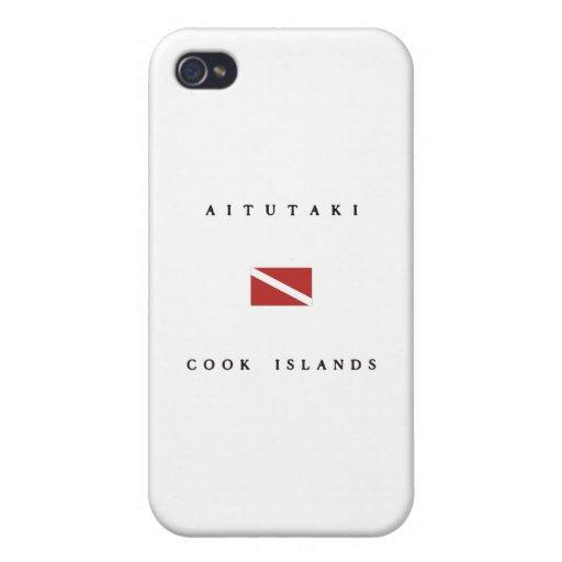 Aitutaki Cook Islands Scuba Dive Flag iPhone 4/4S Cover