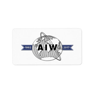 AIW 25th Anniversary Logo-18 Per Sheet Address Label