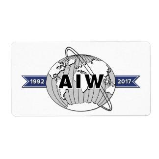 AIW 25th Anniversary Logo-8 Per Sheet