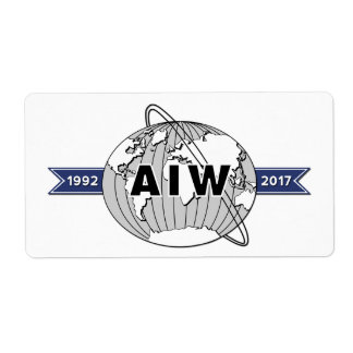 AIW 25th Anniversary Logo-8 Per Sheet Shipping Label