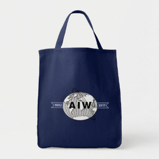 AIW 25th Anniversary Logo Grocery Tote Bag