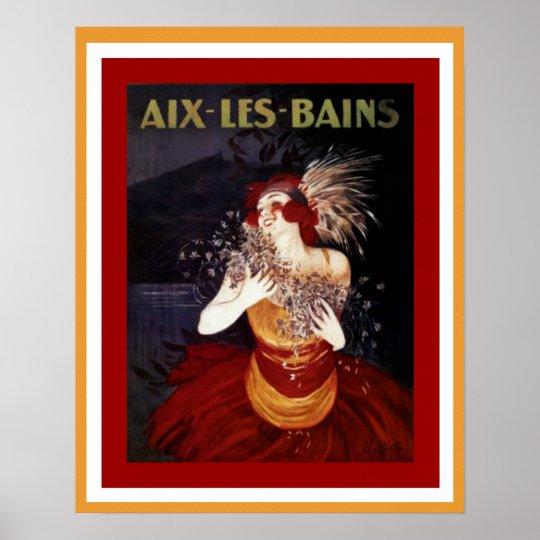 Aix Les Bains Art Deco Vintage Ad Poster