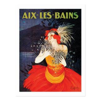Aix Les Bains Travel Poster Postcard
