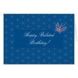 Aiyana Batik Pattern Belated Birthday Card