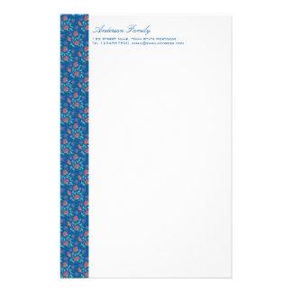 Aiyana Floral Batik Letterhead Stationery Design