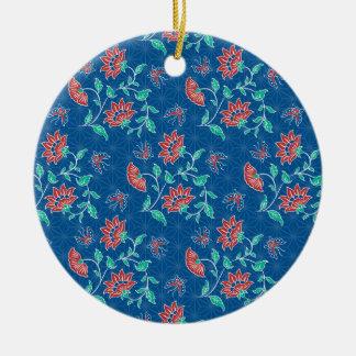Aiyana Floral Batik Round Ornament