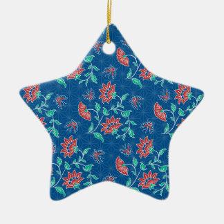 Aiyana Floral Batik Star Ornament