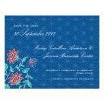 Aiyana Floral Batik Wedding Save The Date Card 3 Personalised Invites