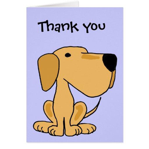 Aj Cute Puppy Dog Thank You Card Zazzle