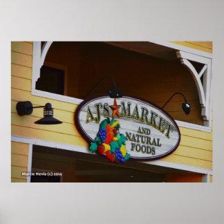 AJ s Market Poster