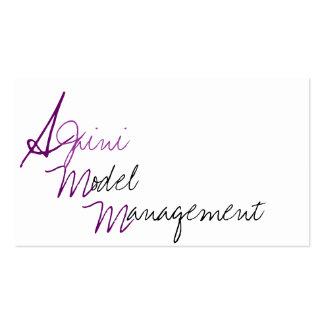 Ajaini Model Management Talent Scout Business Card