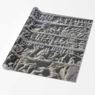 Ajanta Caves Hindu Sculpture Photo Print Wrapping Paper
