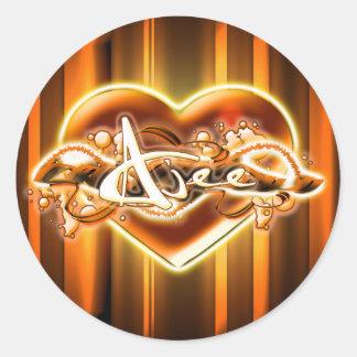Ajee Round Sticker