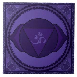 Ajna (Āgyā) or Third Eye Chakra Large Square Tile