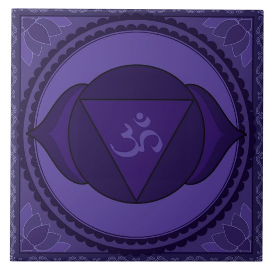 Ajna (Āgyā) or Third Eye Chakra Large Square