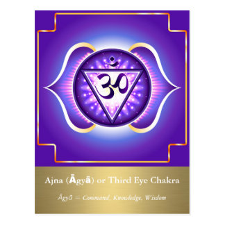 Ajna (Āgyā) or Third Eye Chakra Postcard