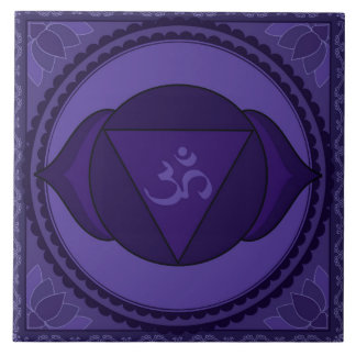 Ajna (Āgyā) or Third Eye Chakra Tile
