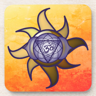 "Ajna Chakra ""Third Eye"" Yoga Insight Lotus Coaster"