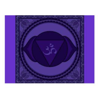 Ajna or third eye chakra Postcard