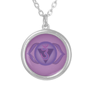 Ajna Purple Third eye Chakra Round Necklace