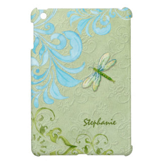 AJR-CARD-Gold-Brocade_damask-green1d Case For The iPad Mini