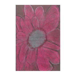 AJ's Pink Flower Acrylic Wall Art