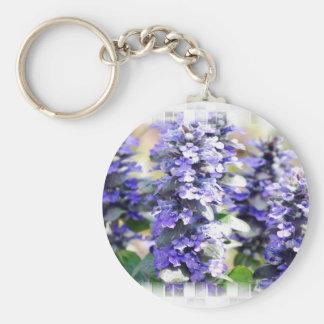 Ajuga Flowers keychain