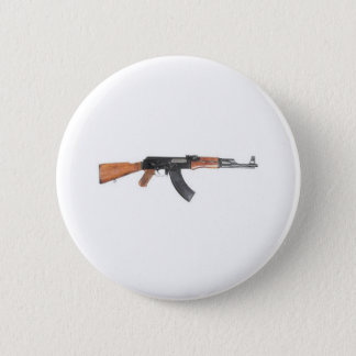 AK47 Assault rifle 6 Cm Round Badge