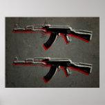 AK47 Assault Rifle Pop Art Print