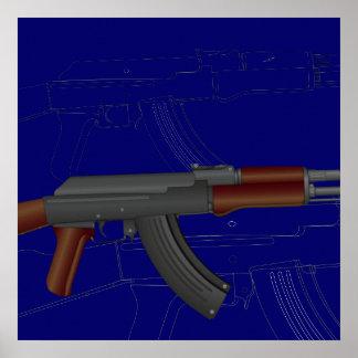 AK47 BluePrint Posters
