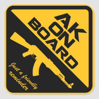 AK47 On Board Sticker