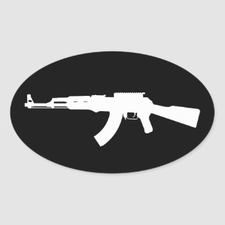 ak47 oval sticker
