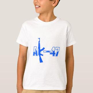 AK-47 AKM Assault Rifle Logo Blue.png T-Shirt