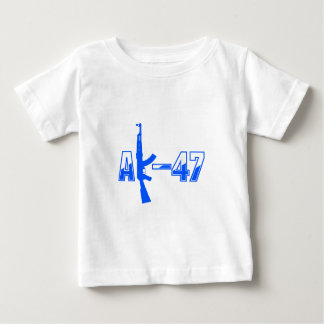 AK-47 AKM Assault Rifle Logo Blue.png Tshirt