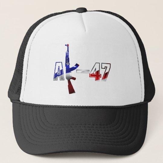AK-47 AKM Assault Rifle Logo Red White And